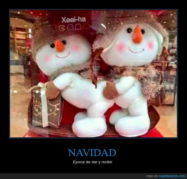 dar,muñecos de nievo,recibir