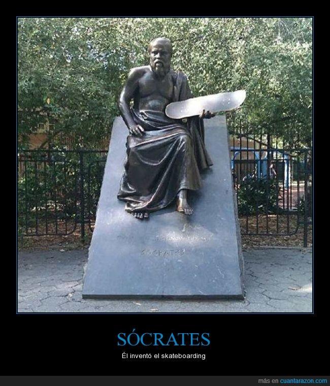 escultura,humor,skate,socrates
