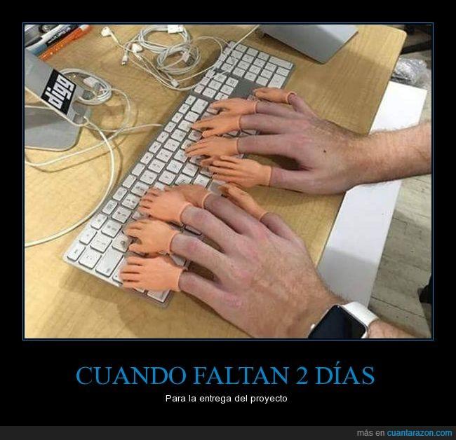 dedos,entrega,manos,teclado