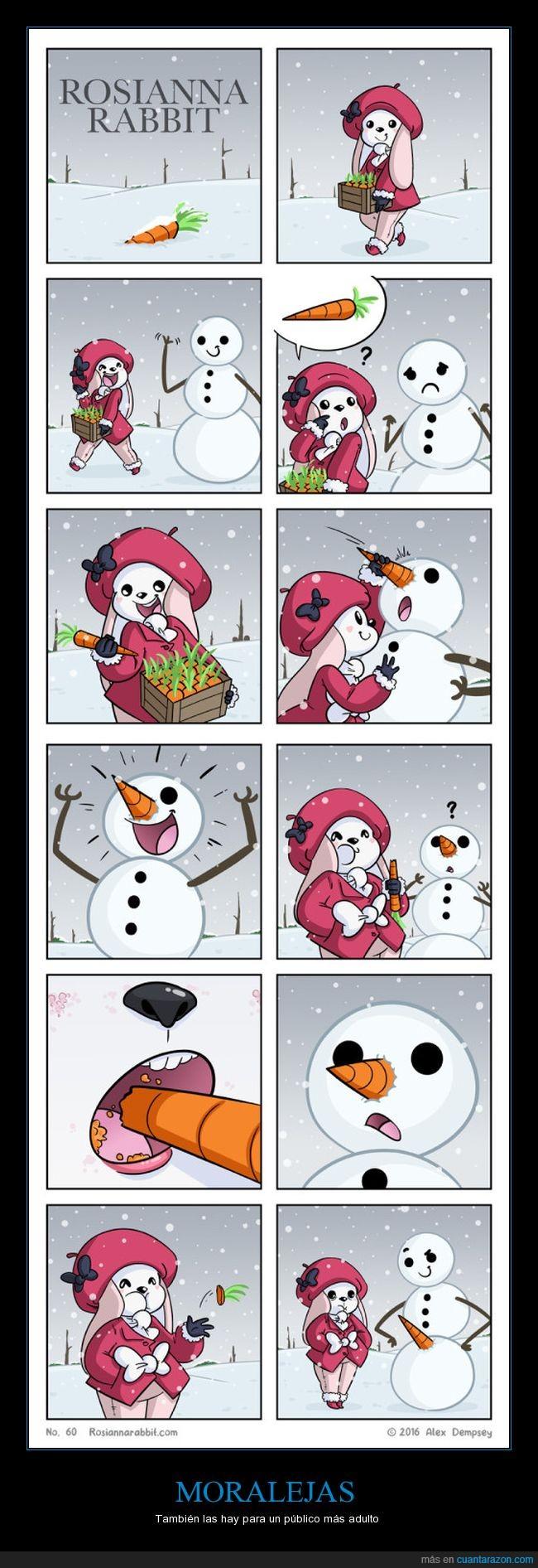 conejo,muñeco,nieve,zanahoria