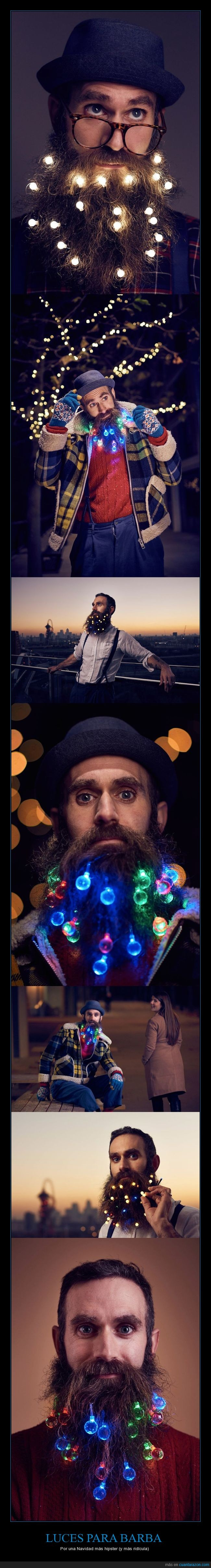barbas,hipsters,luces,navidad