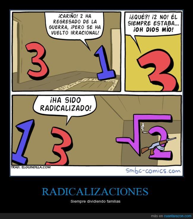 humor matemático,radical