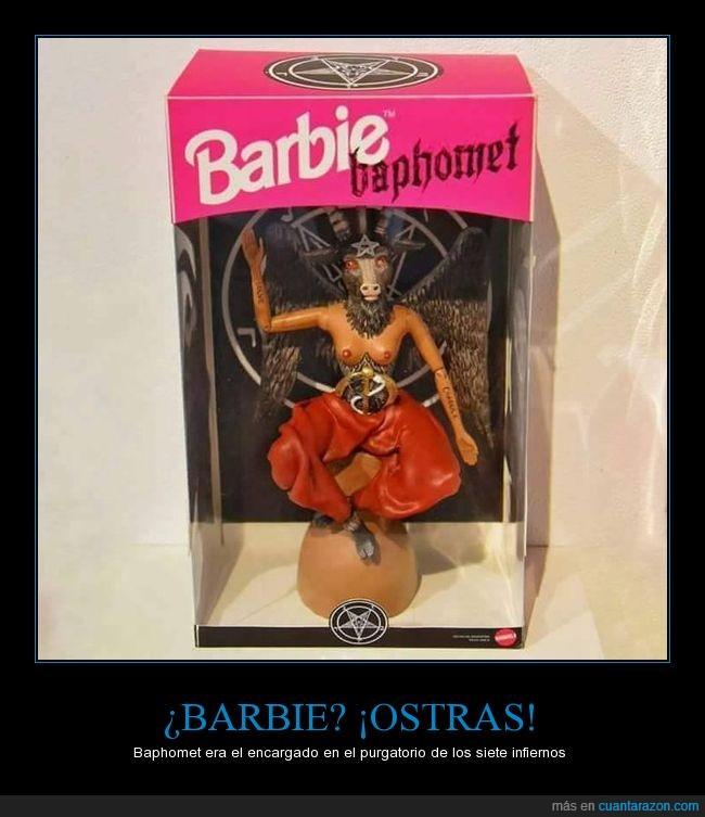 Baphomet,barbie,encargado,purgatorio,siete infiernos