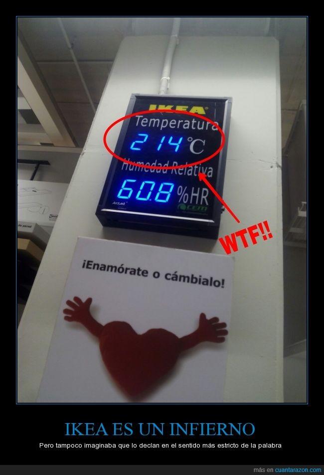 Ikea,infierno,temperatura,termómetro