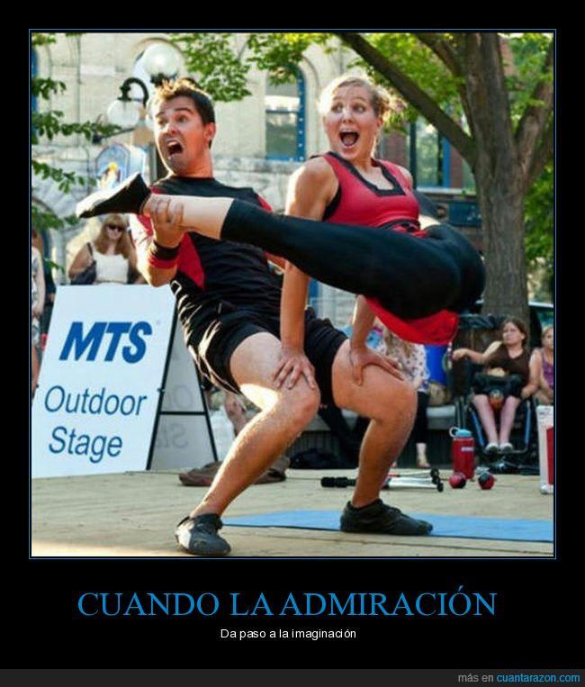 gimnastas,porristas
