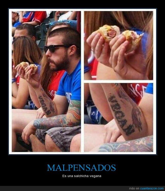 salchicha,tatuajes,veganos