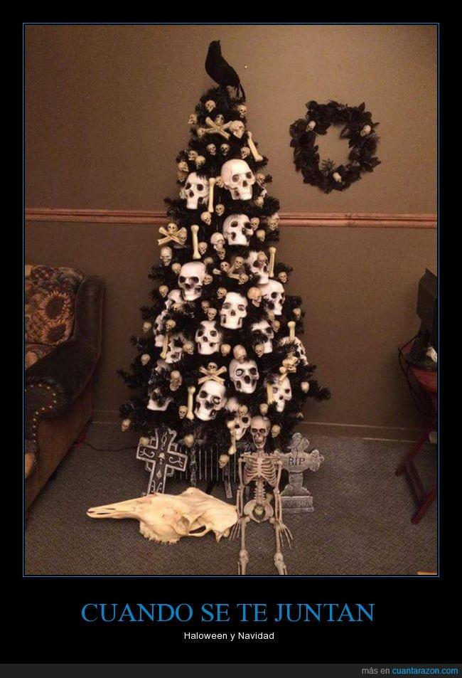 árbol,calaveras,esqueletos,huesoso,navidad,pino