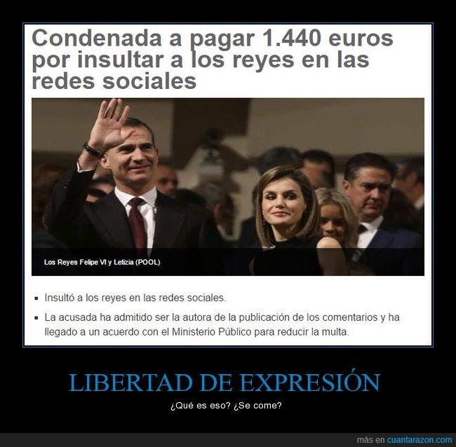 7200€,de,españa,expresión,libertad,monarquia,multa,reyes