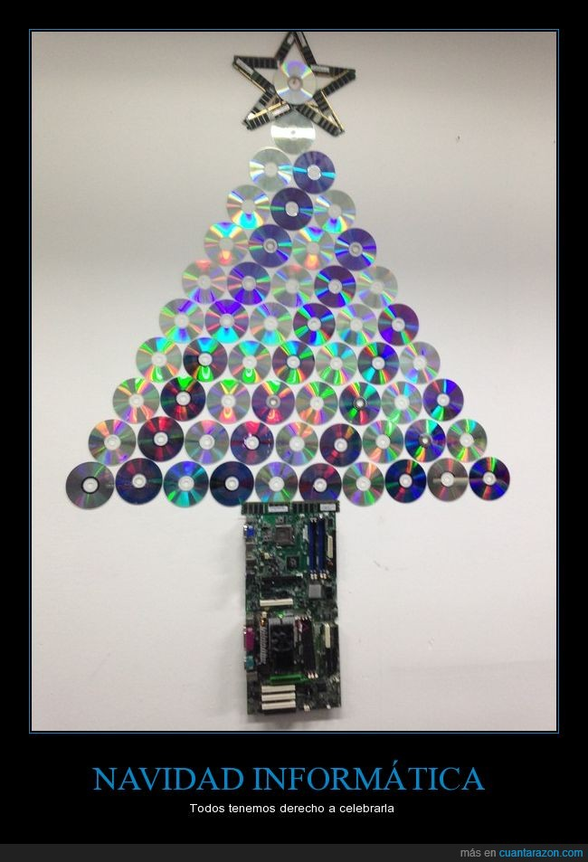 árbol de navidad,cds,ram