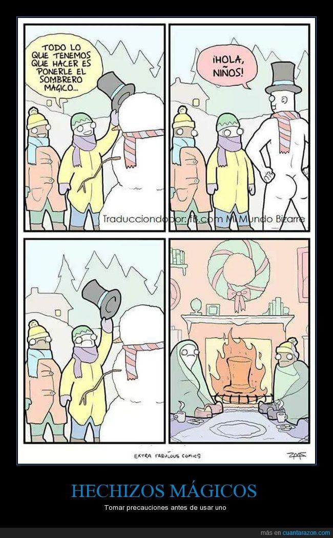 hechizo,muñeco de nieve,sombrero,trauma