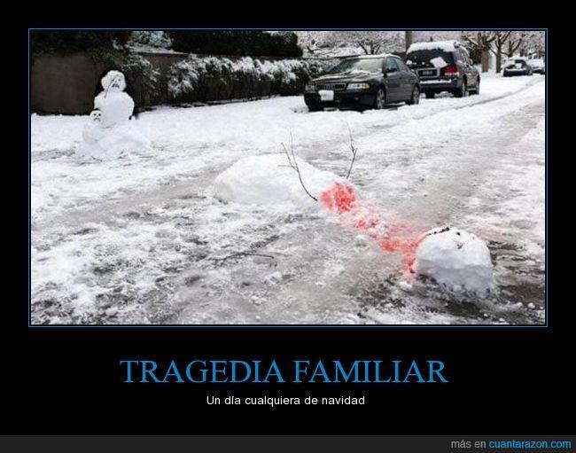 familia,frosty,humor,nieve