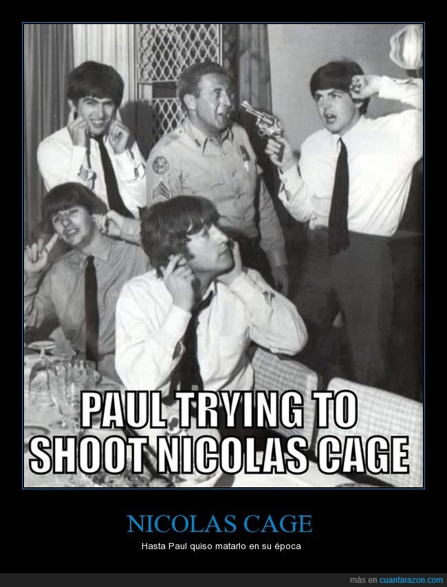 Asesinato,Beatles,John Lennon,Nicolas Cage,Paul McCartney
