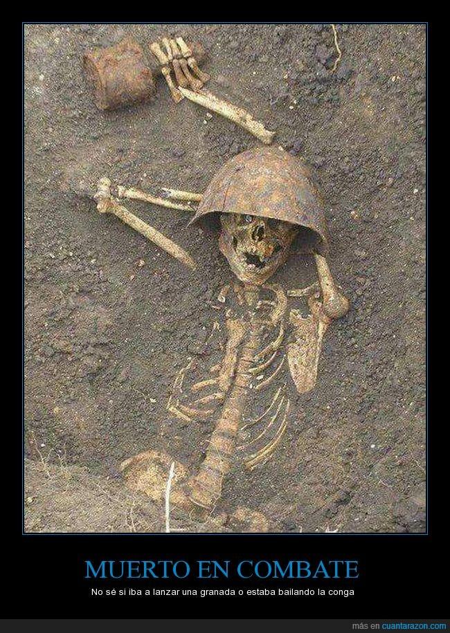 esqueleto,granada,hallazgo,Soldado Ruso