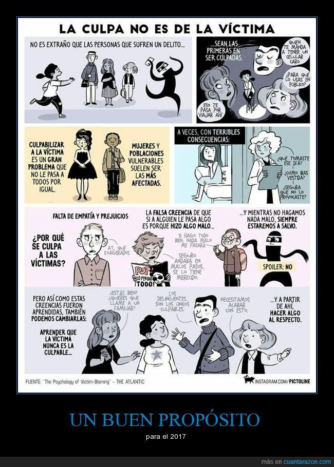 2017,ayudar,culpa,propósito,robo,víctima,violación