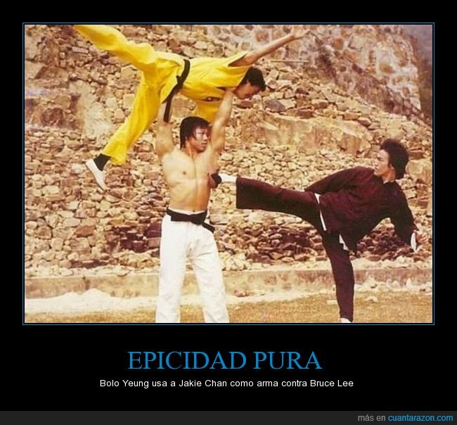 arma,Bolo Yeung,Bruce Lee,escena,Jakie Chan,Operación Dragón,película