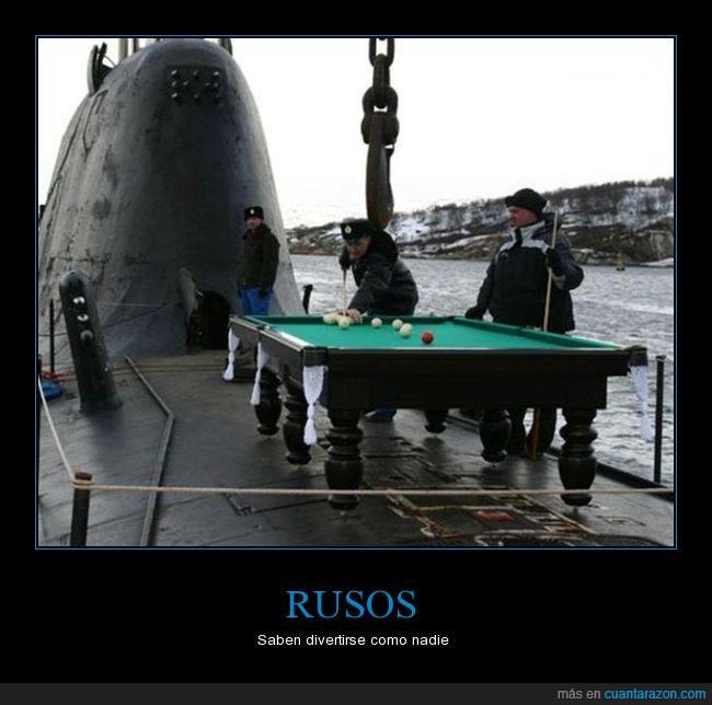 billar,jaja,rusos,submarino