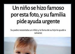 Enlace a Gracias a hacerse famoso con esta foto, Success Kid ha podido salvar la vida a su padre