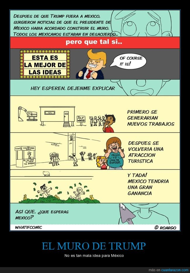 idea,mexico,muro,sarcasmo,trump