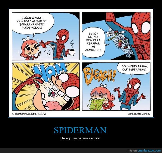 almuerzo,comic,insectos,spiderman