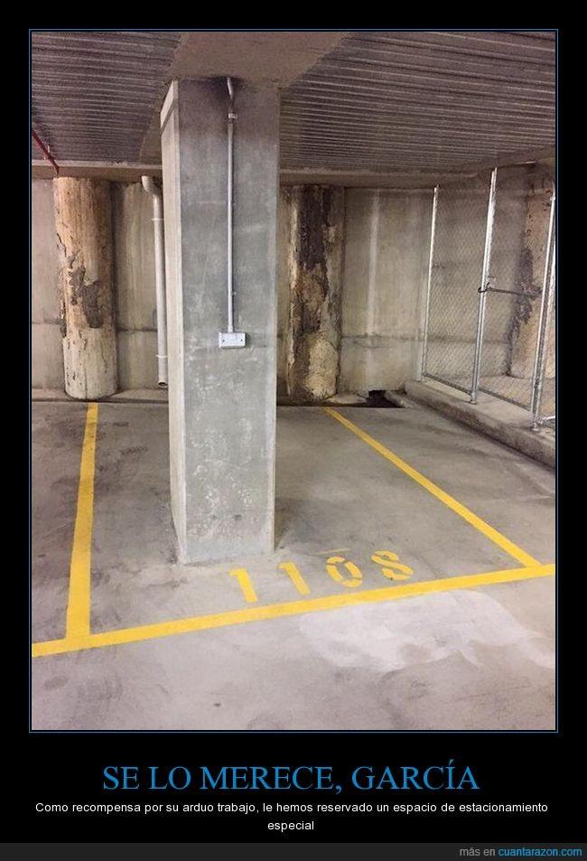 aparcamiento,coche,columna,estacionamiento,parking