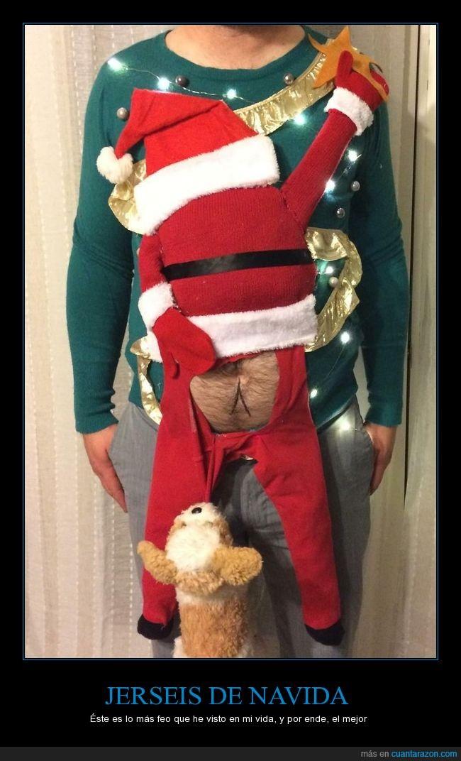 navidad,ombligo,perro,ropa,santa