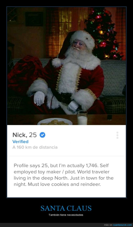 navidad,santa claus,se canso de los renos,Tinder
