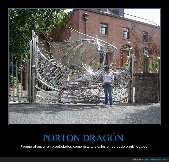 acceso,diseño,dragón,portón,puerta