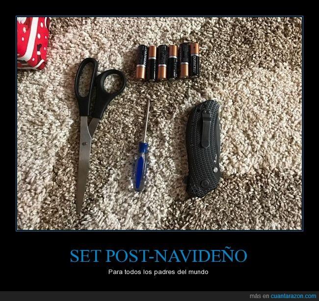 baterías,cuter,desarmador,desatornillador,exacto,pilas,tijeras