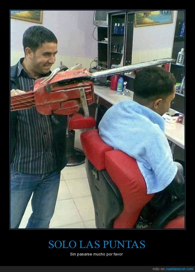 cortar,moto-sierra,pelo,peluquero