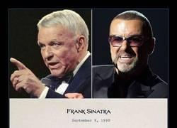 Enlace a El carta sobre la fama que Frank Sinatra le envió a un joven George Michael