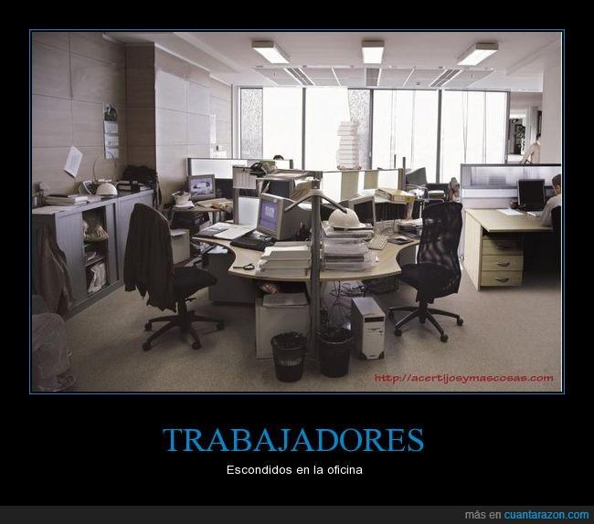 esconderse,oficina,trabajadores