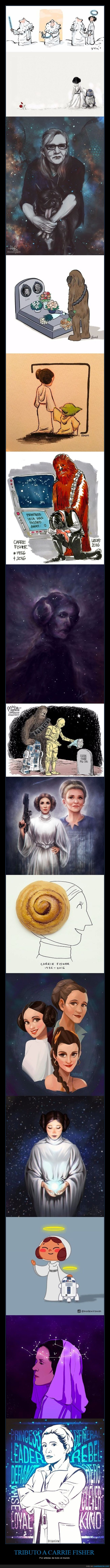 carrie fisher,dep,homenaje,rip,tributo
