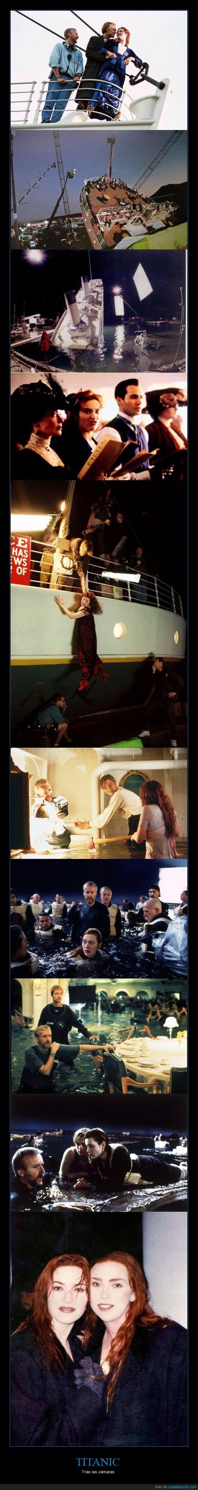 cámaras,making of,película,titanic