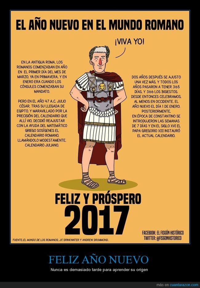 año nuevo,curiosidad,Julio Cesar,Roma