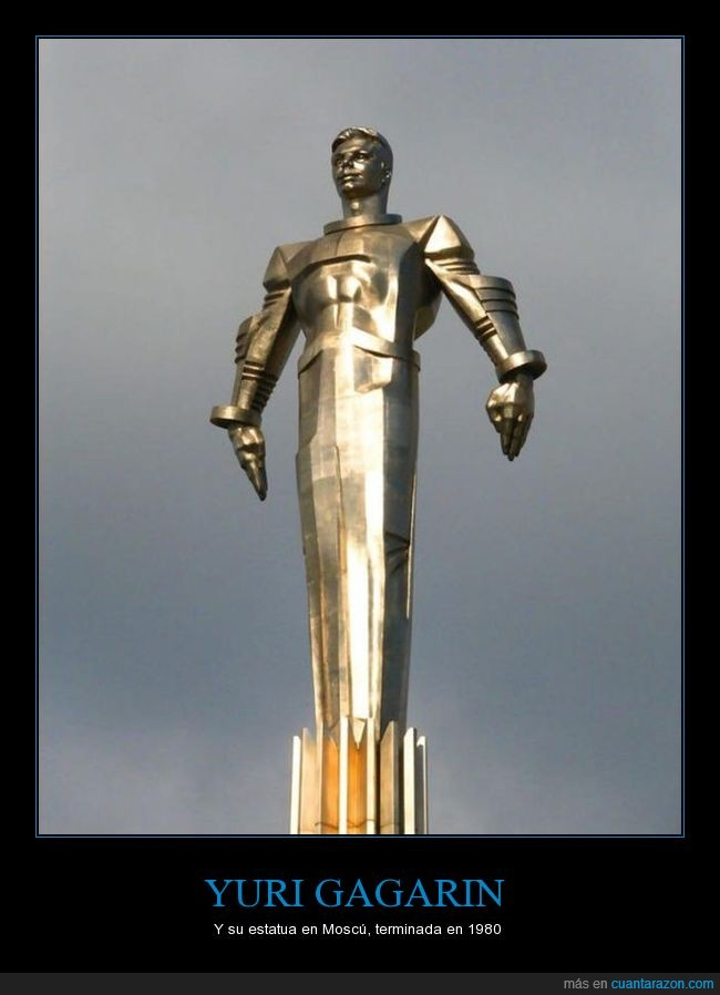 estatua,Yuri Gagarin.Moscú
