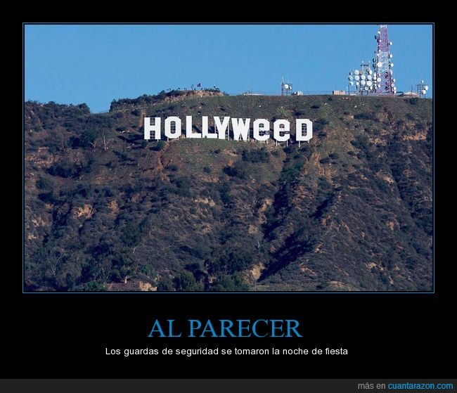hollyweed,hollywood,señal,troleo,vandalismo