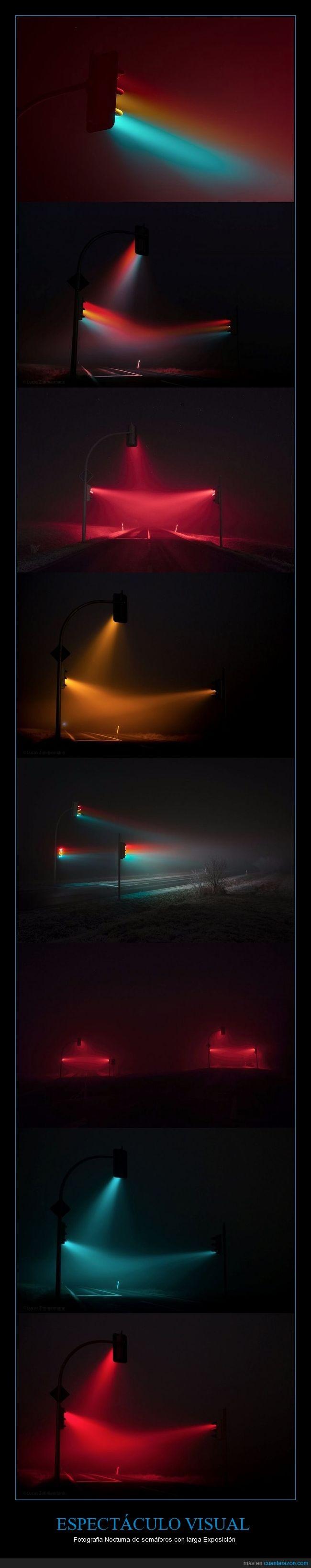 fotos,larga exposición,semáforos
