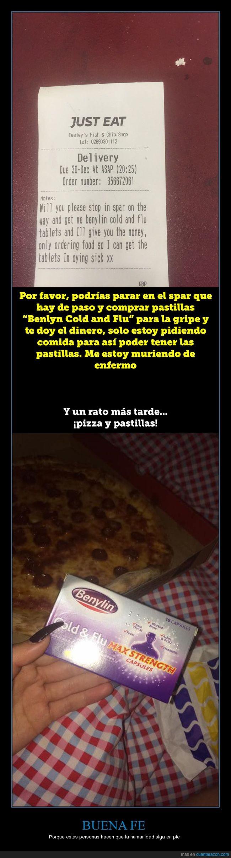 buena fe,comida,just eat,pedido,pizza