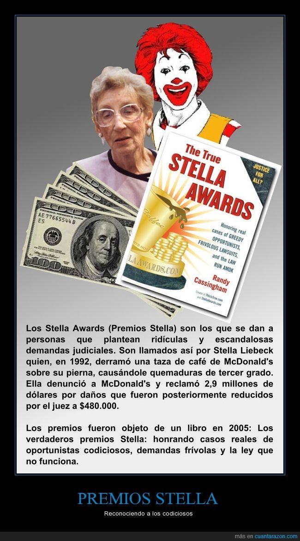 codicia,demandas,premios,stella