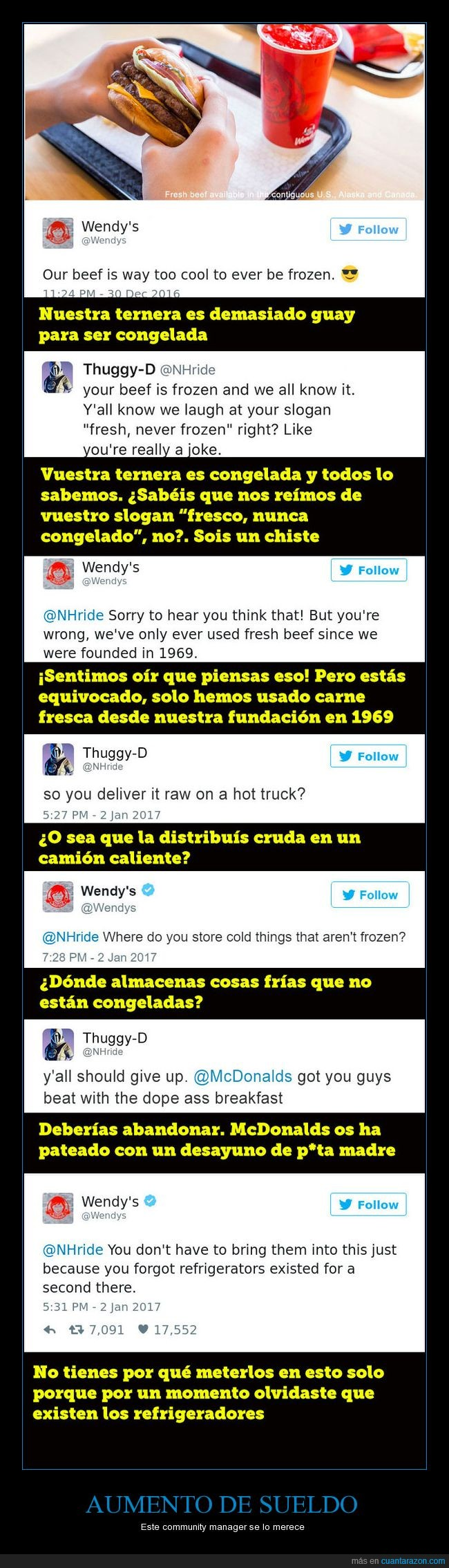 community manager,hamburguesas,tweets,wendy's,zasca
