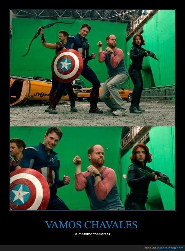 humor,los vengadores,pose a lo power ranger,que grande es Joss Whedon