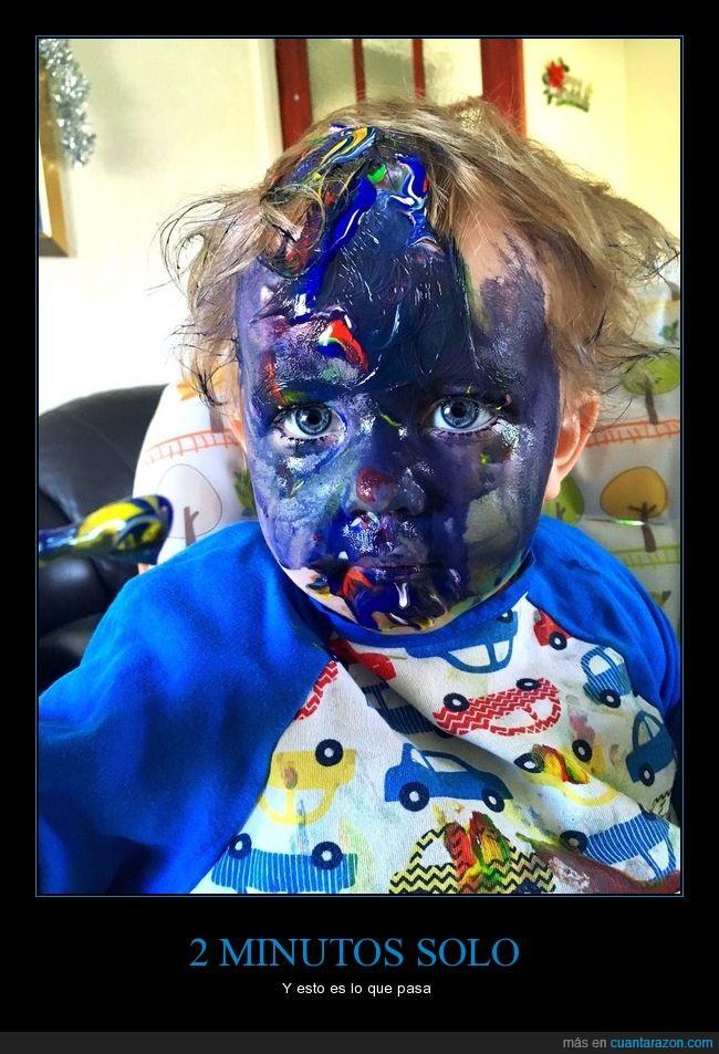 cara,color,niño,pintura