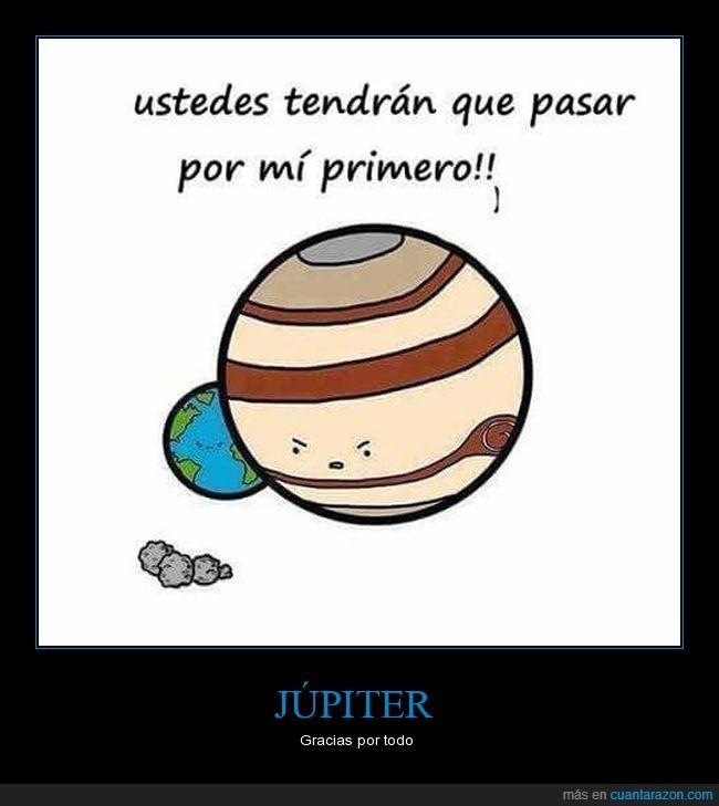 desvía meteoritos,júpiter,tierra