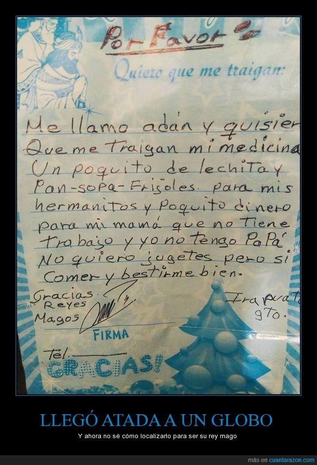 atada a un globo,carta,real,reyes,tradición de México