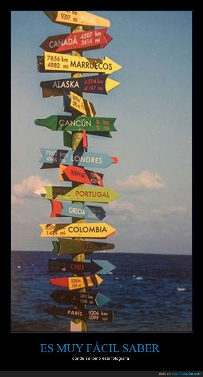 flechas,letreros,mar,playa