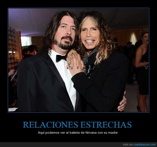 Aerosmith,baterista,Dave Grohl,humor,madre,rock,Steven Tyler,vocalista