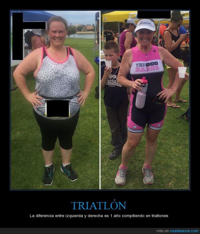 1 año,30 kg,adelgazar,peso,triatlon