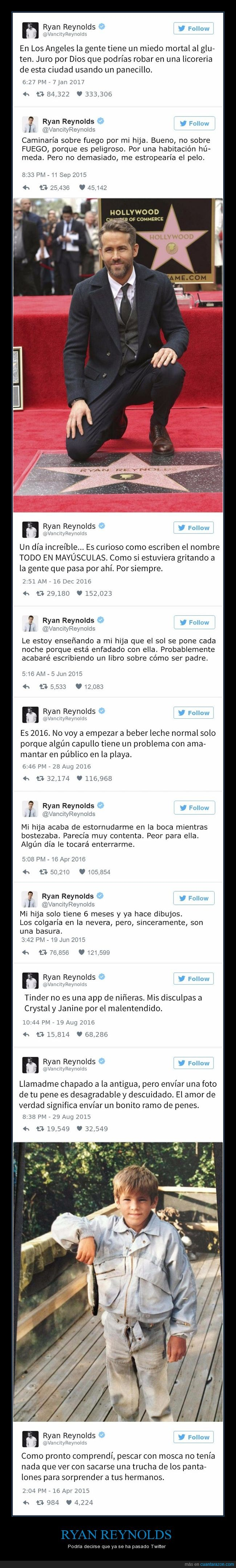 actor,grande,humor negro,ryan reynolds,tweets
