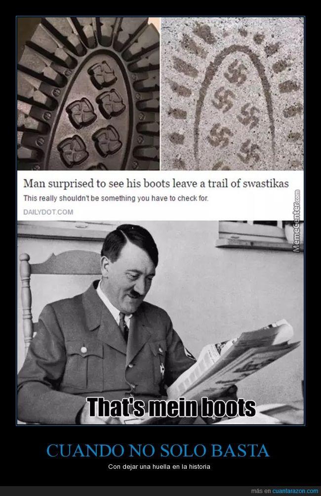 botas,Esvástica,huellas,nazi