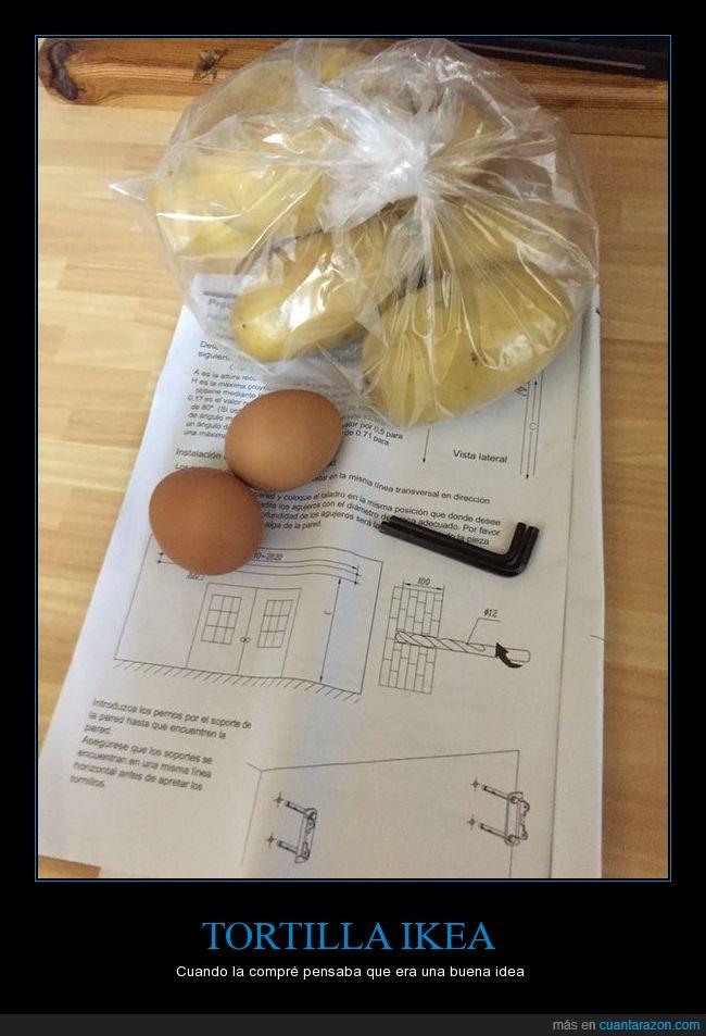 huevos,ikea,instrucciones,patatas,tortilla